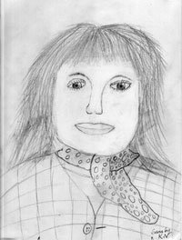 portrait drawing of Susan by KN